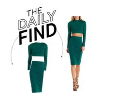 """Daily Find: Charlotte Russe Two-Piece Dress"" by polyvore-editorial ❤ liked on Polyvore featuring DailyFind"