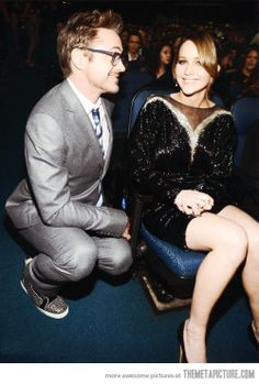 Robert Downey Jr. and Jennifer Lawrence in the same picture. The Internet will now explode.