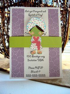 Spa Party Invitation  Girls Birthday invitation by TooCuteInvites