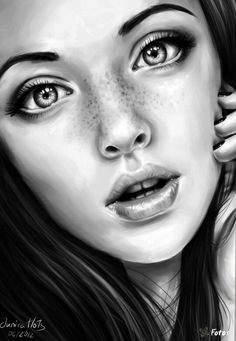 PENCI ART - drawings - female faces                                                                                                                                                                                 More
