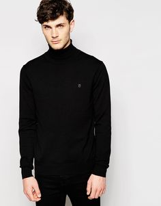 "Jumper by Peter Werth Mid-weight knit Roll neck Embroidered logo Ribbed trims Regular fit - true to size Machine wash 100% Cotton Our model wears a size Medium and is 185.5cm/6'1"" tall"