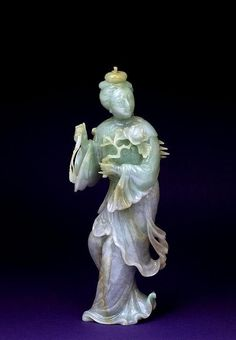 19C Chinese Apple Green Lavender Jade Jadeite Lady ♦️️More Like This At Fosterginger @ Pinterest♦️️