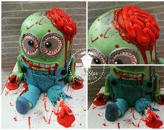 Zombie Minion Halloween Cake from www.bluestarbakes.co.uk