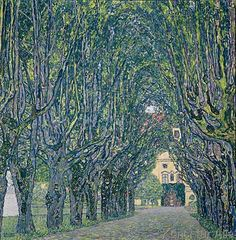 Gustav Klimt - Allee im Herrenhaus Kammer, Ober-österreich
