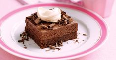Rich chocolate mousse slices that everyone will love - your challenge is not to devour them all at once!