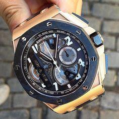 Audemars Piguet Royal Oak Offshore Tourbillon Concept In Rose Gold. Retails at around $200000. Photo by @luxurywatchlife #luxurywristwatches #wristwatch #chronograph #timepiece #luxurytimepieces #wristwatchlover #tourbillon #concept #audemarspiguet by wristwatchlover