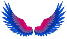 These are my angel wings lol. But seriously I'm considering drawing myself and friends as Angels Bisexual Pride, Gay Pride, Pride Tattoo, Sea Wallpaper, Lgbt Love, Bubbline, Lgbt Community, Gay Art, Drawings