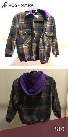 Urban renewal flannel/ sweatshirt jacket Flannel and sweatshirt jacket. Barely worn and in great condition. Urban Outfitters Jackets & Coats Utility Jackets