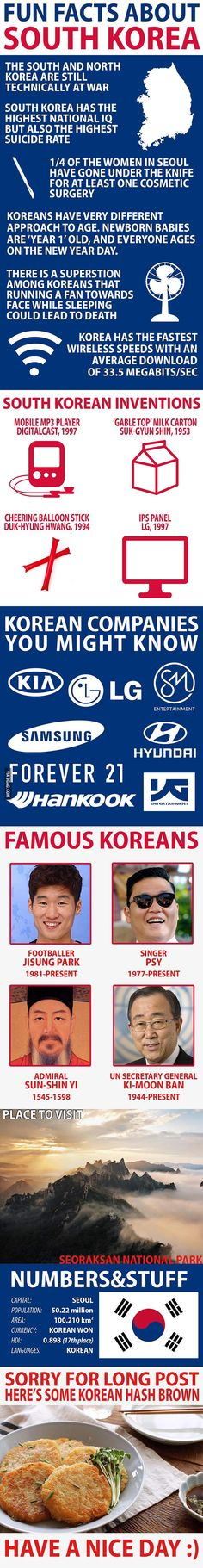 Fun Facts about South Korea - 9GAG