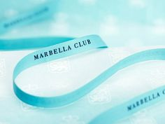 Branded ribbon designed by Pentagram for Spanish hotel, golf club and spa resort Marbella Club