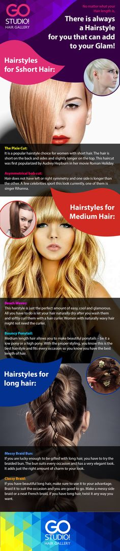 Your hair might be any length, but it is never away from glam hairstyles. Check these out to get the perfect style. Also, do not forget to download the GOSTUDIO! HAIR GALLERY App, your perfect hair guide on your smartphone!  #hairstyles #haircuts #hair #beautiful_hair #beauty #short_hair #medium_hair #long_hair