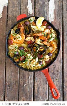 Delicious paella #recipes #food #dinner
