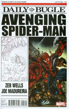 Avenging Spider-Man Daily Bugle (2011) 1 Marvel Comics Modern Age Comic book covers Super Heroes Villians