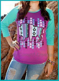 Tatonka  Runs true to size Size available: S M L XL 2X $32.99  #tatonka #baseballshirts  #lovethiscolors  #getreadyforspring  #OutlawCowgirlCreations