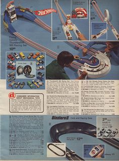 SEARS 1976 Christmas Wish Book Hot Wheels Flying Colors