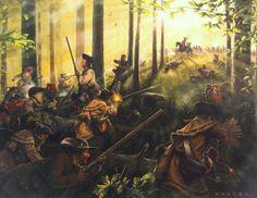 King's Mountain Greeting Card for Sale by Dan Nance American Revolutionary War, American War, Early American, American History, Battle Of Kings Mountain, Mountain Man, Military Art, Military History, Colonial Art