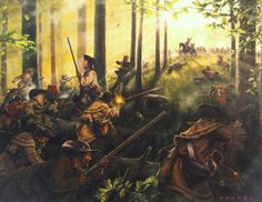 """Ferguson threatened the mountaineer militias to desist their opposition to the British or he would """"march his army over the mountains, hang their leaders, and lay their country to waste with fire and sword.""""  He also called them mongrels.  As he would soon find out, such taunts and threats were nothing more than an invitation to his own funeral.  (Born Fighting, Jim Webb)  Battle of Kings Mountain"""