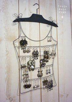 porte bijoux fil de fer 2