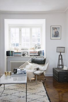 Reading nook in Pernille Teisbæk's home