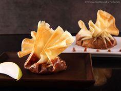 Brik Pastry Purses with Caramelized Pears - Meilleur du Chef