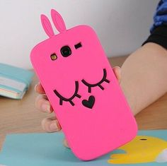 3D Rabbit Case Soft Silicone Back Cover For Samsung Galaxy Grand Neo i9060 9062