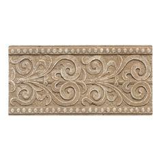 American Olean�Designer Elegance Mocha Ceramic Listello Tile (Common: 4-in x 6-in; Actual: 4-in x 8-in)