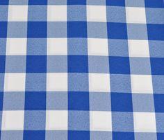 Check | Blue & White