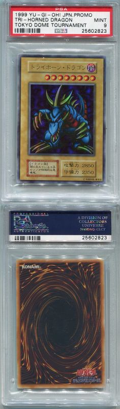 Yu-Gi-Oh Individual Cards 31395: Yugioh Japanese Promo Tokyo Dome Tournament Card Tri-Horned Dragon, Psa 9 Mint -> BUY IT NOW ONLY: $500 on eBay!