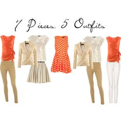 7 Pieces, 5 Outfits - $237, created by amanda-combest on Polyvore