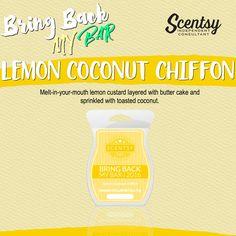 Scentsy Bring Back My Bar Lemon Coconut Chiffon