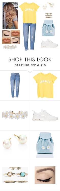 """""""Flower Power 🌼💖"""" by muppets-cookie-monster ❤ liked on Polyvore featuring WithChic, MANGO, Humble Chic, NIKE, Majorica, Sugarbaby and Boohoo"""