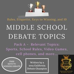 research middle school debate topics