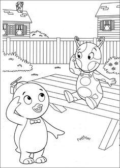 coloring page backyardigans backyardigans