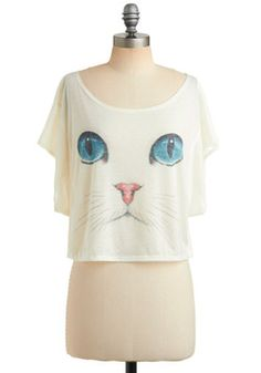 I Want It Meow Top.  Pretty sure I had the sweatshirt version of this in 4th grade.