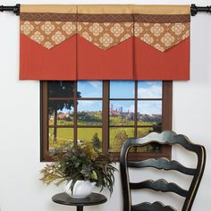 Amazon.com: Spice It Up Window Valance Pumpkin Rust Orange Brown Beige Floral: Home & Kitchen 6 of these