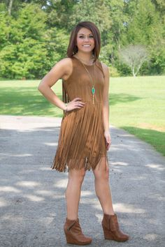 fringe dress. fall perfection! use code blossom1212 for 10% off your entire purchase at Juliana's Boutique!