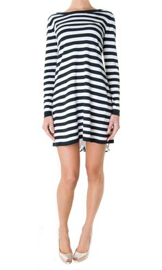 Armani Jeans Spring/Summer collection #blackwhite striped dress