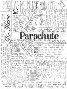 Parachute // WHYY couldn't I see them when they were in town?!?!