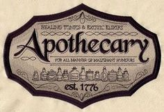 Craft a vintage apothecary with this sign on bath décor! On flat fabrics, for a…