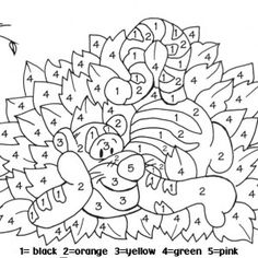 color by numbers coloring page
