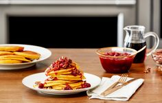 Recipe: Day-After-Thanksgiving Pumpkin Pancakes with Cranberry Topping — Sponsored by Frigidaire