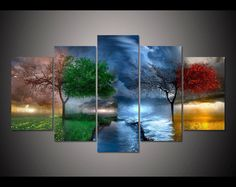 Buy Unframed HD Printed Fantasy Nature Painting Canvas Print Room Decor Print Poster Picture Canvas Wall Art Painting at Wish - Shopping Made Fun Wall Art Pictures, Canvas Pictures, Pictures To Paint, Nature Pictures, Cross Paintings, Nature Paintings, Abstract Paintings, Art Paintings, Abstract Art