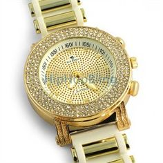 Gold Plated Iced Out Bling Watch