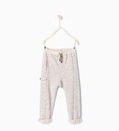 ZARA - KOLLEKTION AW15 - Flecked trousers