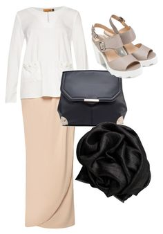 """2nd eid outfit"" by sharifah-maryam ❤ liked on Polyvore featuring ZALORA and Bajra"