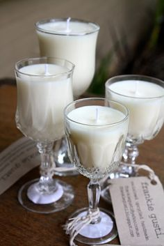 vintage glass candles  inspiration only