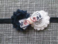 Yankees Headband $7.50 https://www.facebook.com/kenleyscreations?ref=br_tf