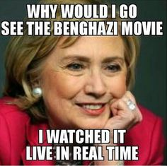 And that's exactly why you don't deserve to be an American President! #NoHillary #Benghazi #NeverForget