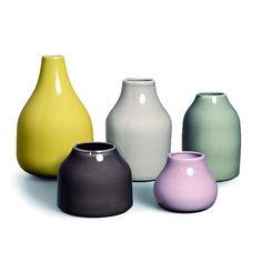 Botanica Vases, 5 Pcs, Kähler - $147
