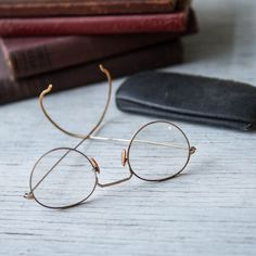 06448e9295a0 Vintage Gold Wire Rim Glasses 1920s Round by RoostersNestVintage Wire Rim  Glasses